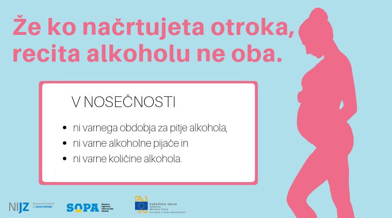 ALKOHOL IN NOSEČNOST NISTA ZDRUŽLJIVA