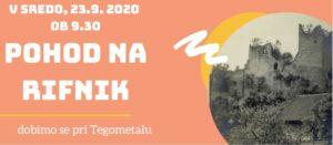 DAN SLOVENSKEGA ŠPORTA – 23. 9. 2020 – Pohod na Rifnik
